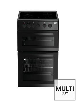 beko-kdc5422ak-50cm-twin-cavity-electric-cooker-black