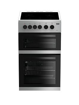 Beko Kdc5422As 50Cm Twin Cavity Electric Cooker - Silver Best Price, Cheapest Prices