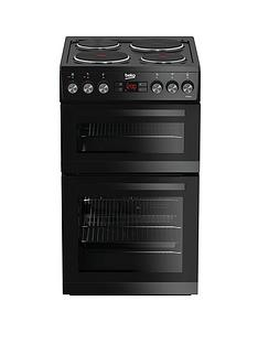 Beko KDV555AK 50cm Double Oven Electric Cooker - Black Best Price, Cheapest Prices
