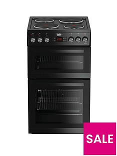 Beko KDV555AK 50cm Double Oven Electric Cooker - Black