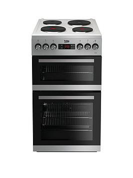 Beko Kdv555Aw 50Cm Double Oven Electric Cooker - White Best Price, Cheapest Prices