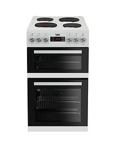 Beko KDV555AW 50cm Double Oven Electric Cooker - White with Connection