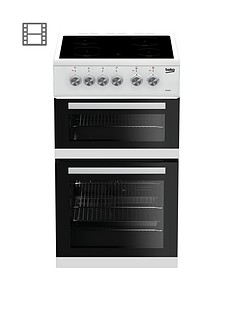 Beko KDVC563AW 50cm Double Oven Electric Cooker - White