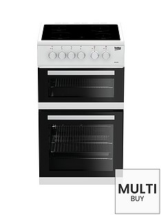 beko-kdc5422aw-50cm-twin-cavity-electric-cooker-white