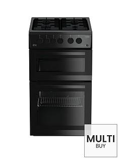 beko-kdg582k-50cm-twin-cavity-gas-cooker-black