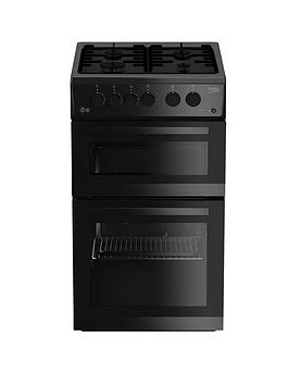 beko-kdg582k-50cmnbspwide-twin-cavity-gas-cooker-black-with-connection