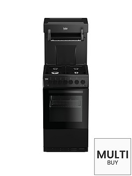 beko-ka52nek-50cm-single-oven-high-level-grill-gas-cooker-black-with-connection