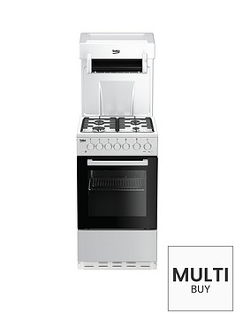 beko-ka52new-50cm-single-oven-with-high-level-grill-gas-cooker-white-with-connection