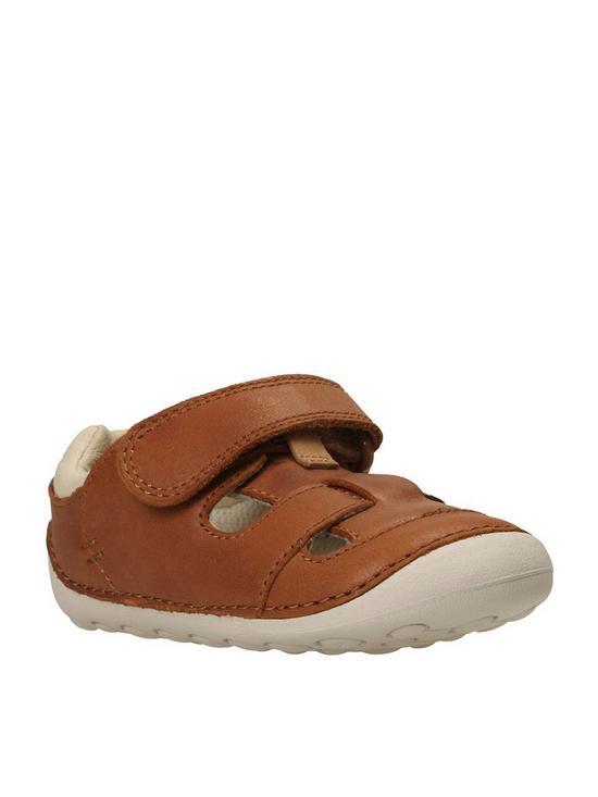 b6682e0292b18 Clarks Baby Boys Tiny Ash First Sandals - Tan | very.co.uk