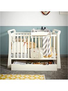 mamas-papas-mia-sleigh-cot-bed-top-changer-amp-under-bed-storage