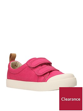 clarks-halcy-hatinbspgirls-first-shoes-pink