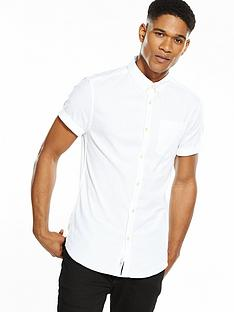 river-island-short-sleeved-muscle-fit-oxford-shirt