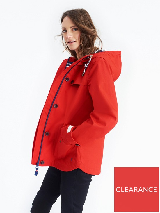 482af5885a1 Joules Coast Waterproof Hooded Jacket - Red