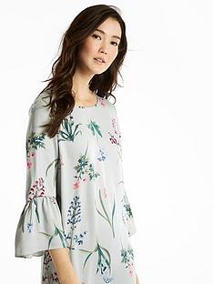 joules-gardenia-frill-sleeve-woven-dress