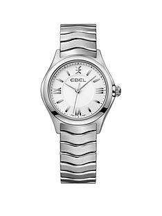 ebel-ebel-wave-white-dial-stainless-steel-bracelet-ladies-watch