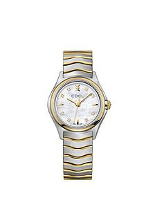 ebel-ebel-wave-mother-of-pearl-dial-diamond-set-9ct-gold-and-stainless-steel-bracelet-ladies-watch