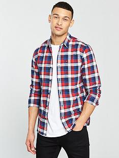 tommy-jeans-textured-check-long-sleeve-shirt