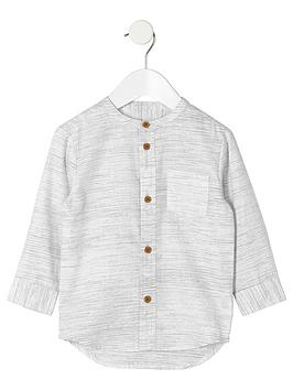 river-island-mini-boys-cream-textured-grandad-shirt
