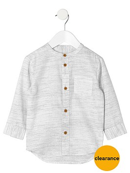 river-island-mini-boys-cream-textured-grandad-shirt