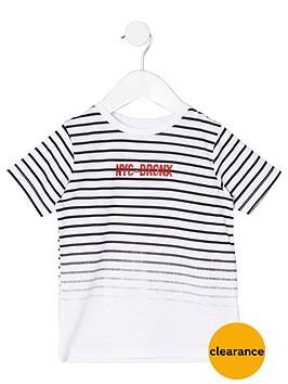 river-island-mini-boys-white-stripe-lsquonycrsquo-print-t-shirt