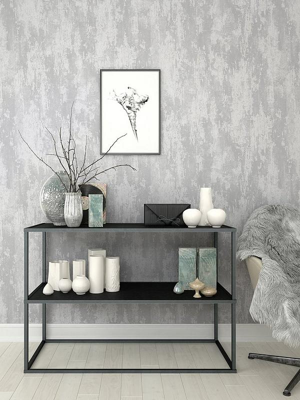 Boutique Industrial Texture Silver Wallpaper Very Co Uk