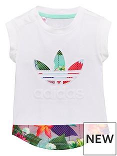 adidas-originals-adidas-originals-baby-girl-floral-trefoil-tee
