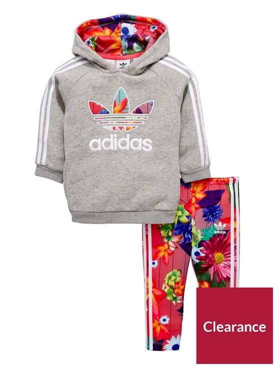newest eeba5 4cae0 ... adidas Originals Adidas Originals Baby Girl Floral Trefoil Hooded Tracksuit  very.co.uk ...