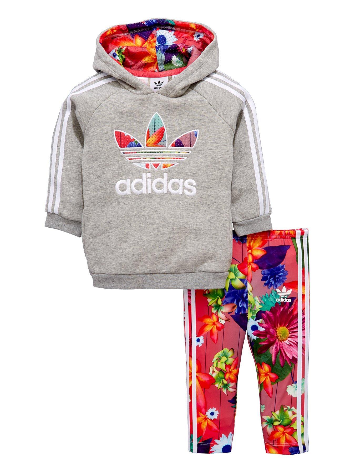 adidas originali adidas originali bambina floreale di trifoglio con cappuccio