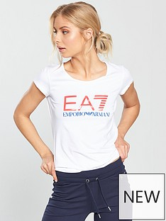 emporio-armani-ea7-shiny-logo-t-shirt-white
