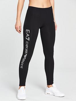 emporio-armani-ea7-shiny-logo-leggings-black