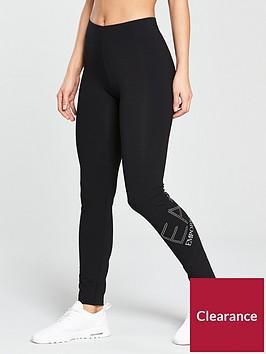 emporio-armani-ea7-train-diamante-logo-leggings-black