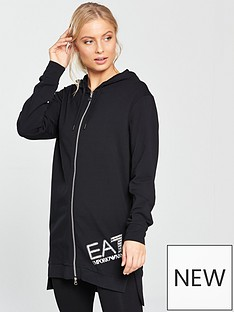 emporio-armani-ea7-train-longline-zip-through-diamante-logo-hoodienbsp--blacknbsp