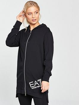 emporio-armani-ea7-train-longline-zip-through-diamante-logo-hoodienbsp--blacknbsp
