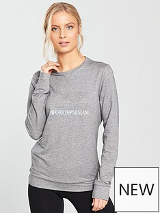 emporio-armani-ea7-train-diamante-logo-long-sleeve-top-grey