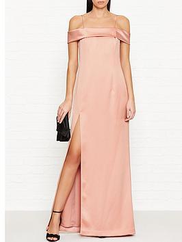halston-heritage-off-shoulder-satin-column-gown-pink