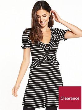 miss-selfridge-stripe-jersey-tea-dress