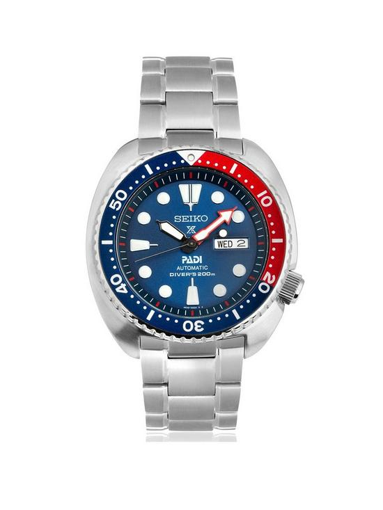 Seiko in Association with Padi Blue Dial Stainless Steel Mens Diving Watch eb2cdb24c3