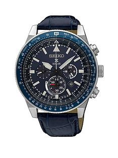 seiko-seiko-blue-dial-chronograph-blue-leather-strap-mens-watch