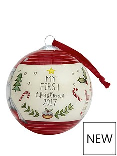 mamas-papas-mamas-amp-papas-my-1st-christmas-bauble--red