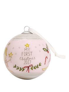 mamas-papas-mamas-amp-papas-my-1st-christmas-bauble--pink