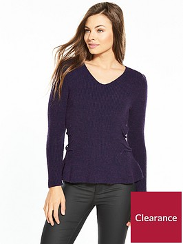 v-by-very-power-shoulder-lace-up-side-jumper-grape