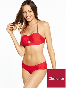 v-by-very-banded-gathered-keyhole-bikini-set-red