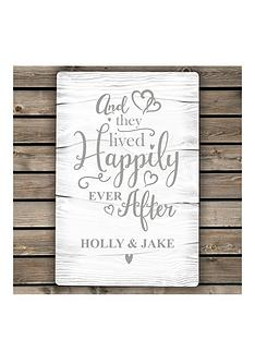 personalised-happily-ever-after-metal-sign