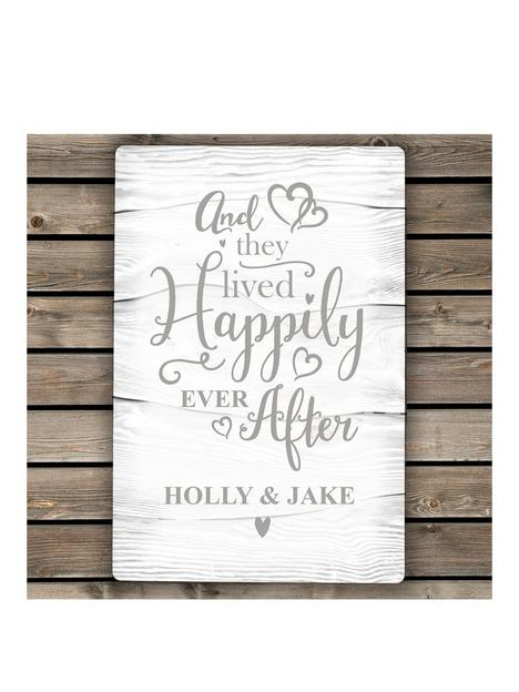 the-personalised-memento-company-personalised-happily-ever-after-metal-sign
