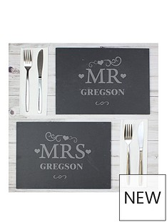 personalised-set-of-2-slate-mr-amp-mrs-placemats