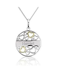 keepsafe-sterling-silver-and-yellow-rhodium-heart-personalised-filigreenbspdisc-pendant