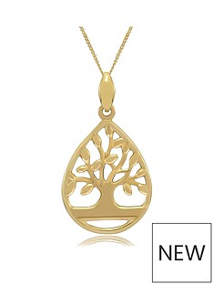 love-gold-9ct-gold-personalised-family-tree-pear-drop-pendant