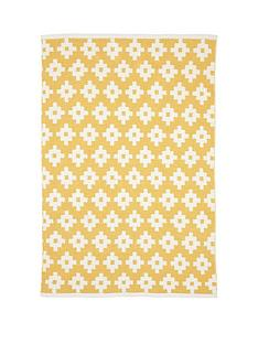 mamas-papas-mamas-amp-papas-mustard-diamonds-rug