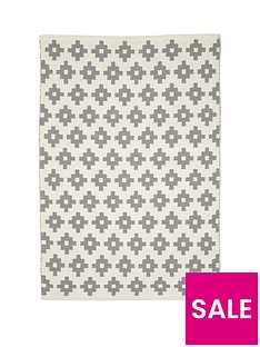 mamas-papas-grey-diamonds-rug