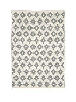mamas-papas-grey-diamonds-rug
